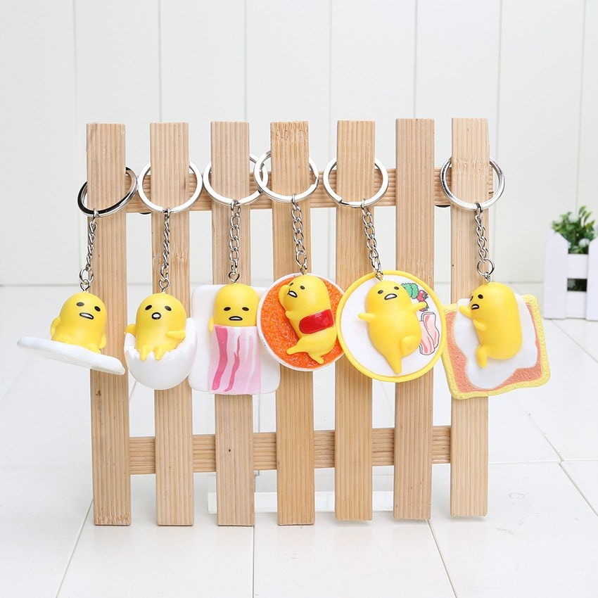 Gudetama Key Chain (6 Pieces) - Totemo Kawaii Shop