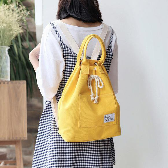 Korean Spring Handle Backpack