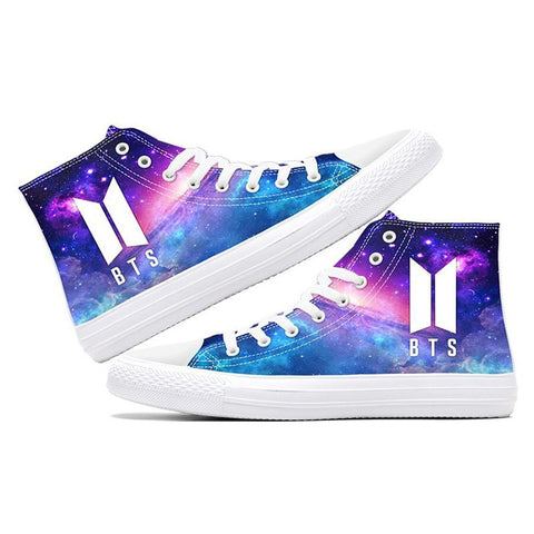 BTS Purple Galaxy Luminous Sneakers