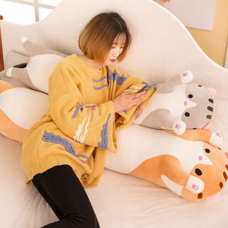 Cute Laying Down Kitty Plushie