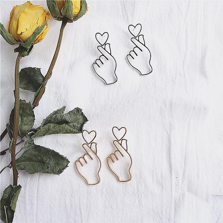 Korean Love Heart Earrings