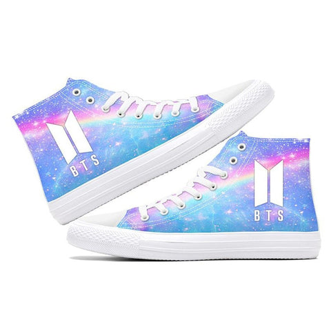 BTS Pastel Universe Luminous Sneakers - Totemo Kawaii Shop
