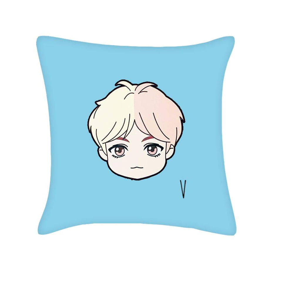 BTS House of BTS Square Pillow