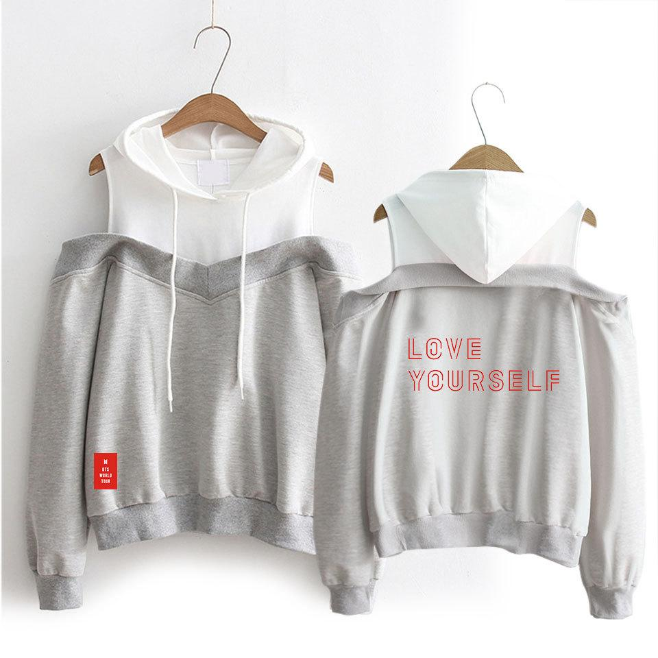 BTS Off The Shoulder 2018 LY World Tour Hoodie