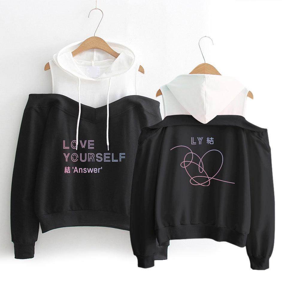BTS Off The Shoulder Love Yourself: Answer Hoodie