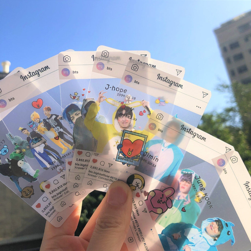 BTS X BT21 Instagram Transparent Photo Cards