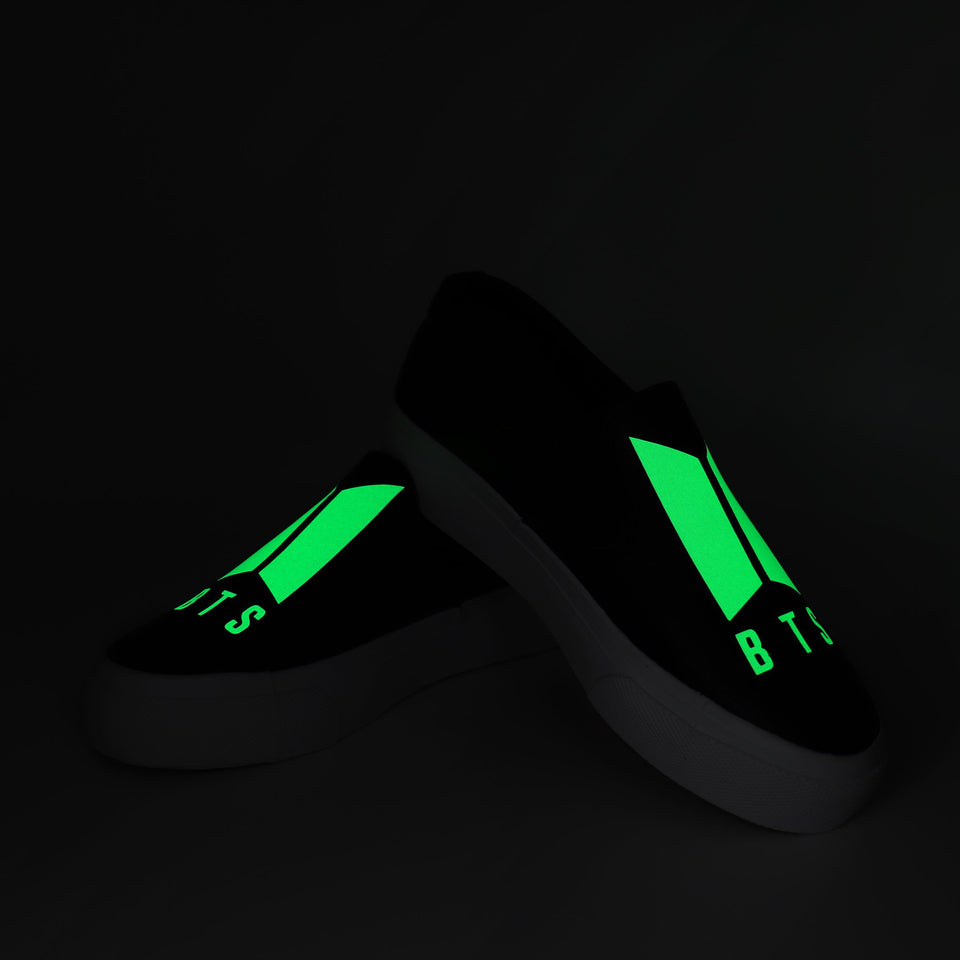 BTS Spring Glow in Dark Low Top Sneakers