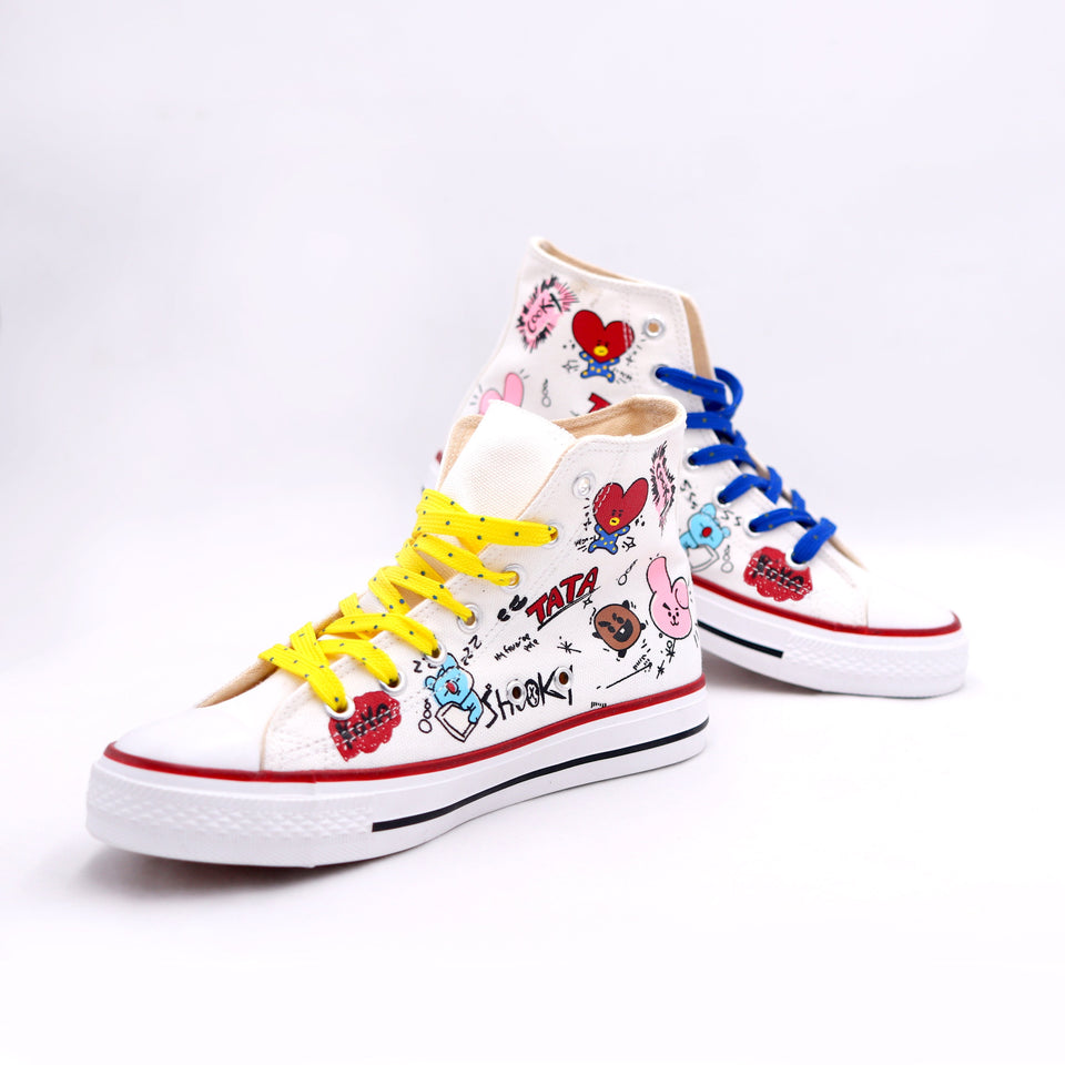 BT21 All Star High Top Sneakers - Pre Order