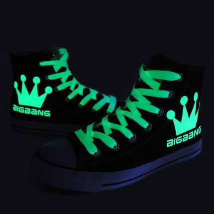 BIGBANG Crown Glow in Dark Sneakers - Totemo Kawaii Shop