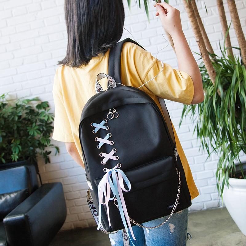Korean Minimalist Bow Backpack