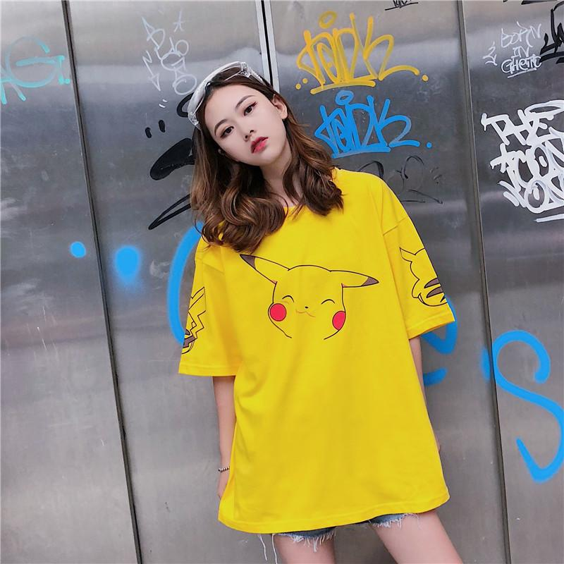 Happy Pikachu Oversized Tee