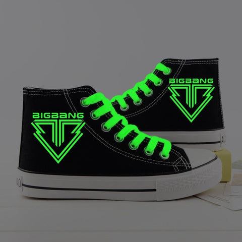 BIGBANG High Top Glow in Dark Sneakers - Totemo Kawaii Shop