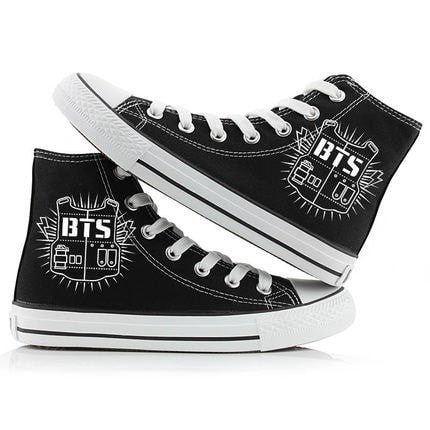 BTS High Top Sneakers - Totemo Kawaii Shop