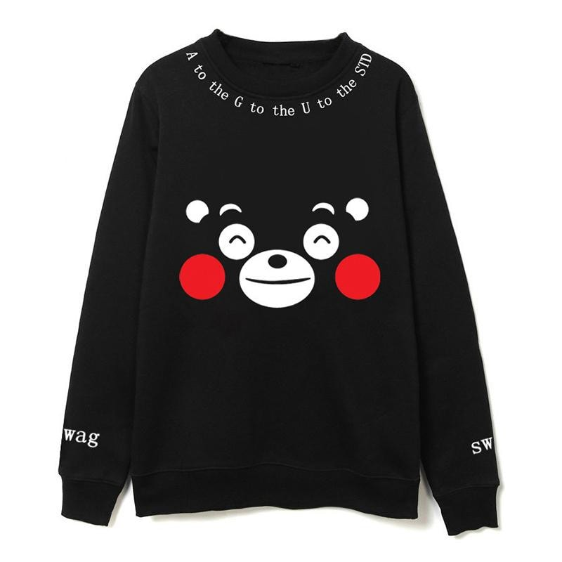 Happy Kumamon Bear Pullover - Totemo Kawaii Shop