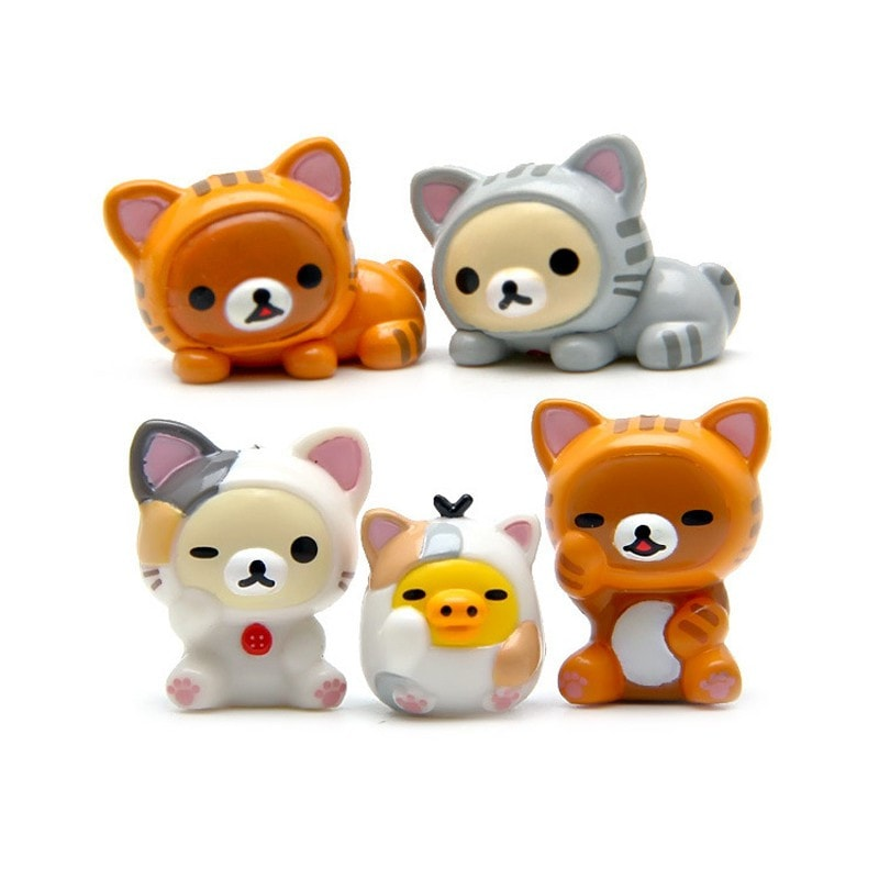 Rilakkuma Decoration Figures (5 Pieces) - Totemo Kawaii Shop