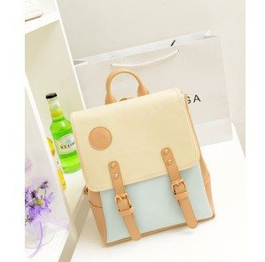 Preppy Retro Leather Backpack - Totemo Kawaii Shop