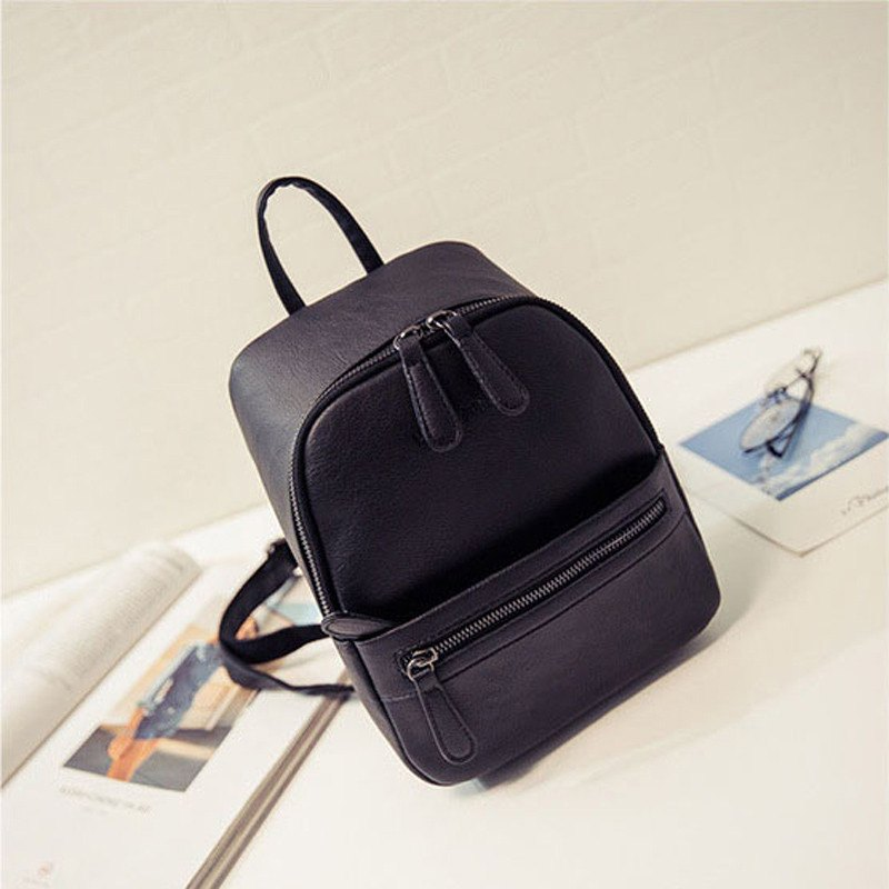 Korean Contemporary Black Candy Colour Backpack - Totemo Kawaii Shop