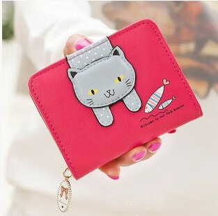 Hanging Out Kitten Red Purse - Totemo Kawaii Shop