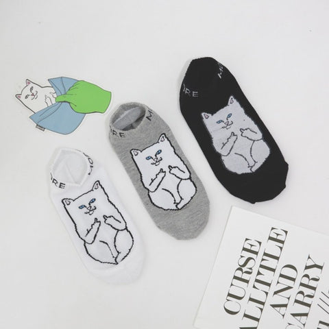Lord Nermal Middle Finger Cat Socks - Totemo Kawaii Shop