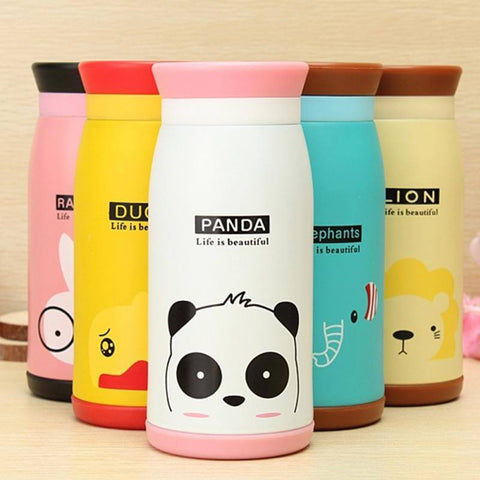 Cute Cartoon Stainless Steel Thermo Bottle - Totemo Kawaii Shop