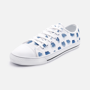 Periibleu Blue Splotches Canvas Sneaker