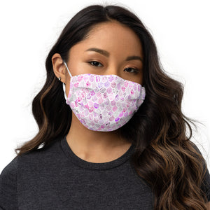 Periibleu Pink Wings Face Mask