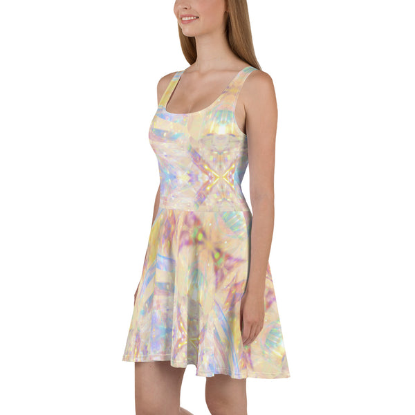 Periibleu Printed Skater Dress - Periibleu