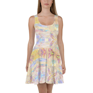 Periibleu Printed Skater Dress