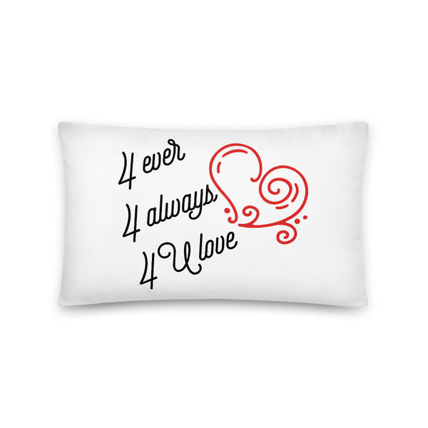 "Periibleu ""For You Love"" Rectangle Pillow"