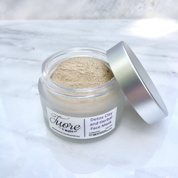 Detox Clay and Herbal Face Mask Natural Organic Botanical Skin Care