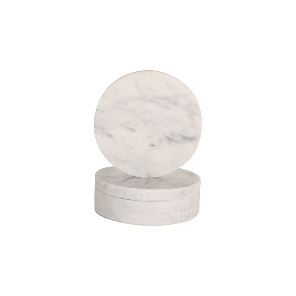 Behr & Co Round Marble Coasters - Set of Four - norsu interiors (9237085763)