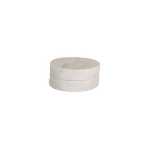 Behr & Co Round Marble Coasters - Set of Four - norsu interiors