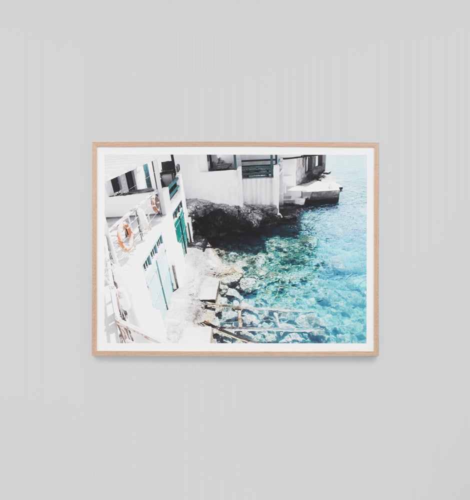 Middle of Nowhere Seaside Village Print (4546208530516)