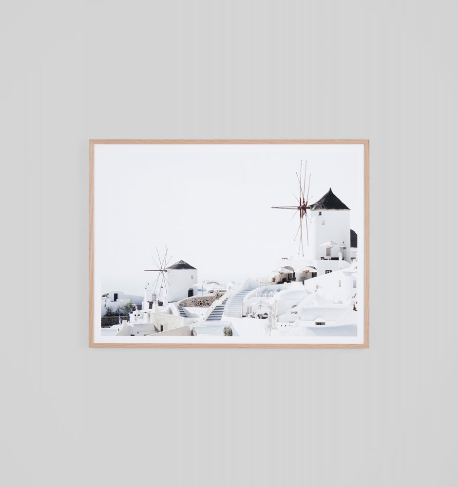 Middle of Nowhere Santorini Windmill Print (4546197717076)