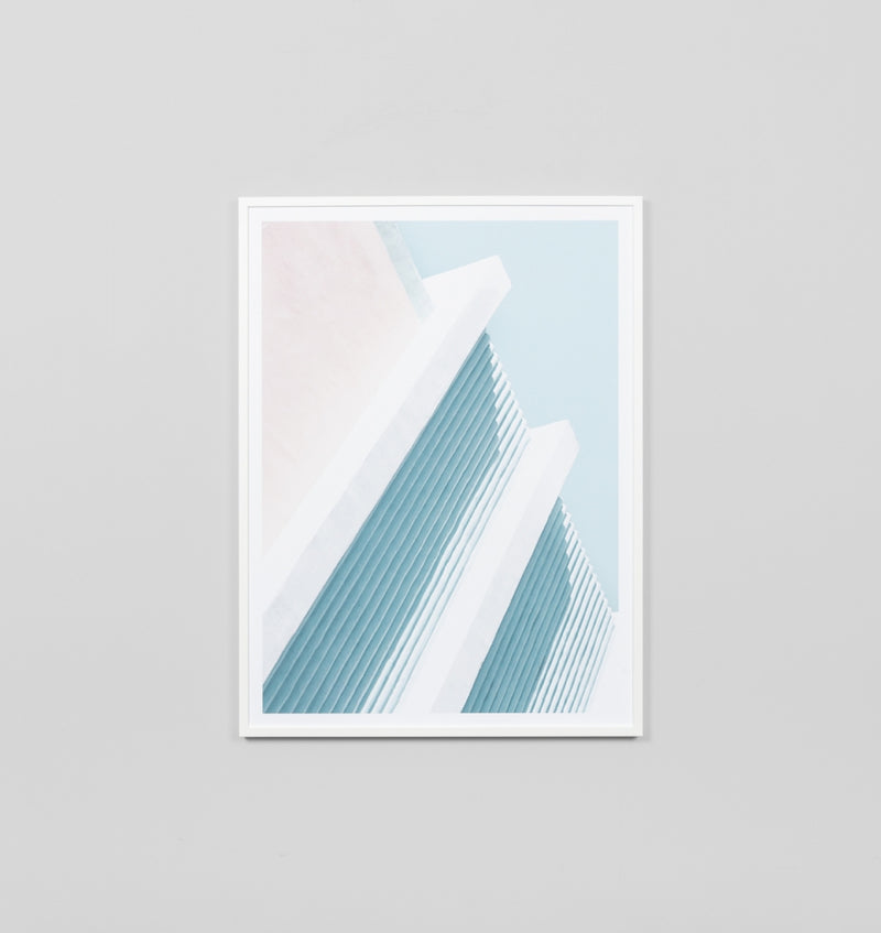 Middle of Nowhere Pastel Architecture Print (4545967292500)