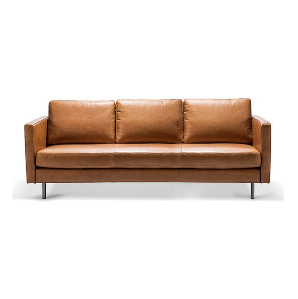 Ethnicraft Sofa N501 Sofa - 3 Seater - Old Saddle, 200x90x85 cm (4595676053588)