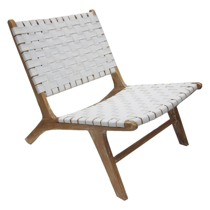 Sentosa Chair White Leather