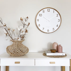 SCARLETT 50cm White Wall Clock (4379007680596)