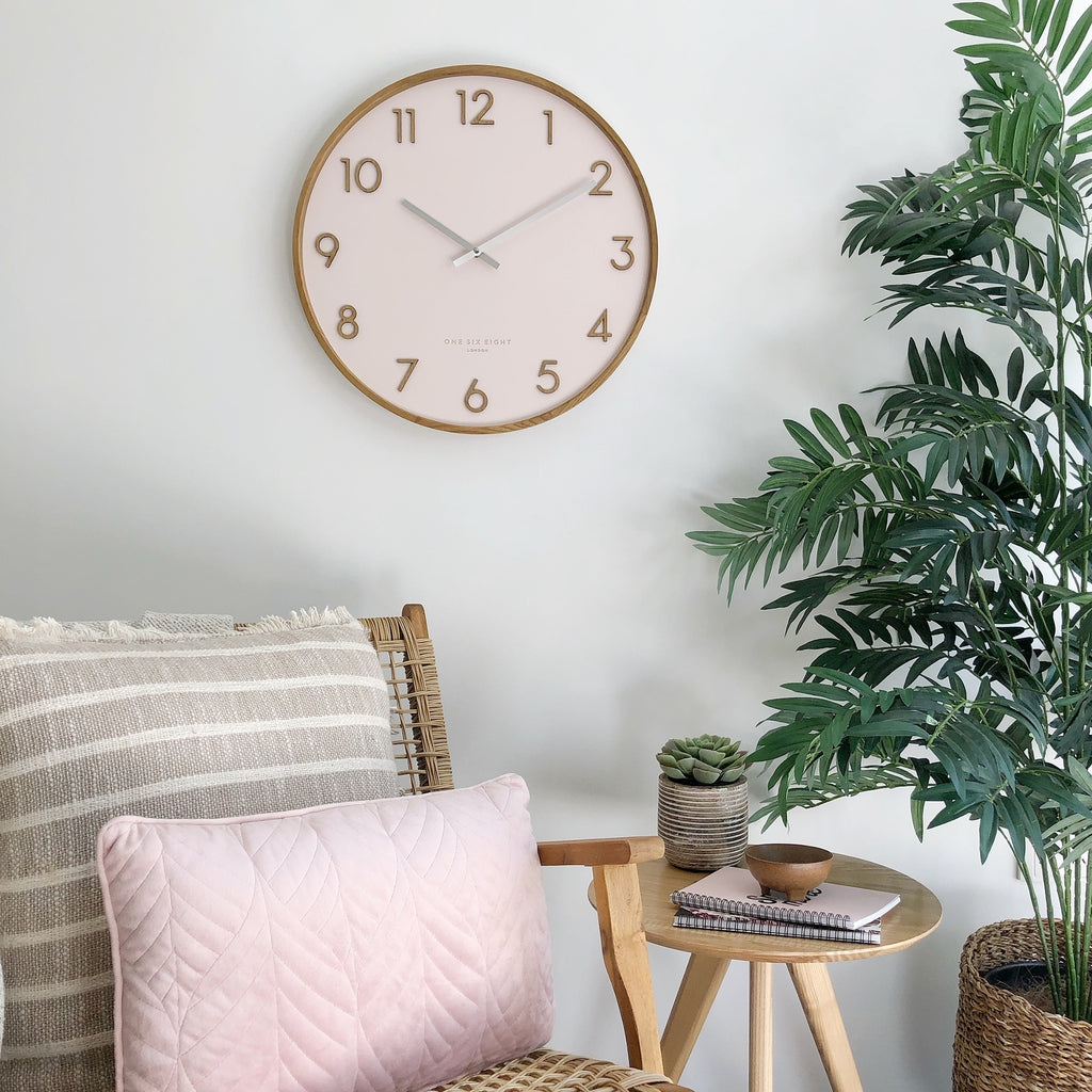 SCARLETT 35cm Blush Silent Wall Clock