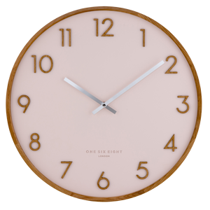 SCARLETT 35cm Blush Silent Wall Clock (4379042775124)