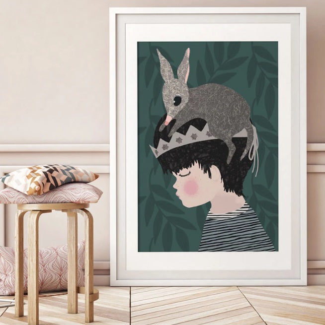 Violet Eyes - Forest Bilby Boy Print