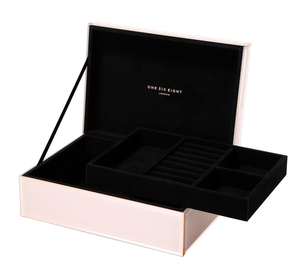 Florence Jewellery Box, Blush Large - PRE-ORDER FOR FEB 2020 DELIVERY (3735101538388)