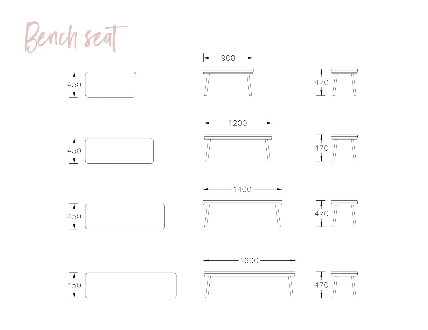 norsu Bench Seat - Design your own (4522763616340)