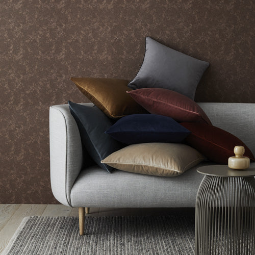 Weave Home Velvet Zoe Cushion, Flint - norsu interiors