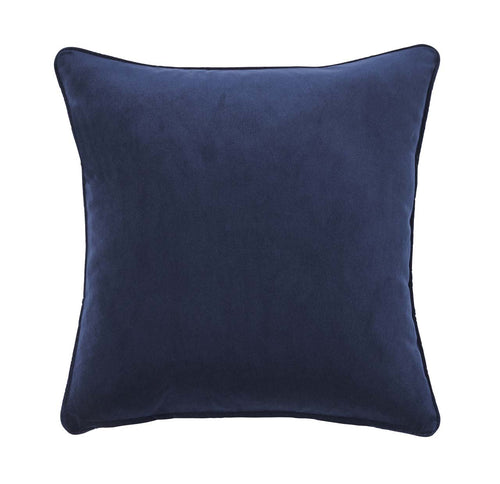 Weave Home Velvet Zoe Cushion, Ink - norsu interiors