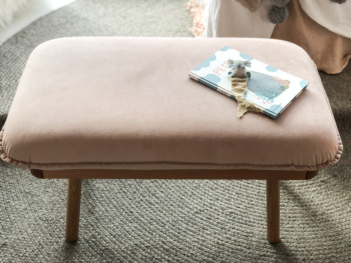 norsu interiors x The Cullin Design Petite Bench Seat, Petal Velvet with Oak Wooden Frame - norsu interiors (1469861396564)