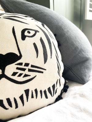 Cheeky Tiger Round Cushion (Various Colours) (4609483800660)