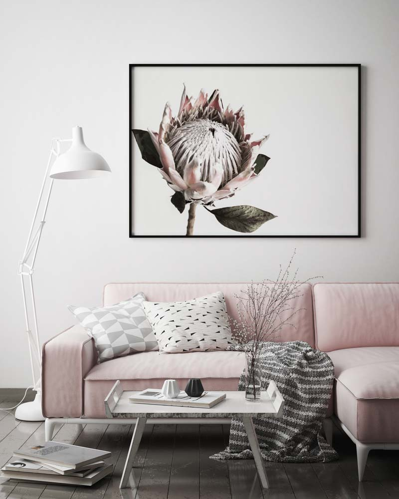 Pretty in Pink 2 Landscape Print - norsu interiors (454075645981)