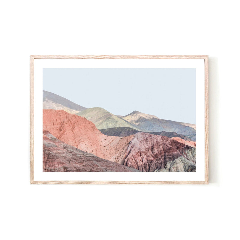 Rainbow Mountains Print - Various sizes (6033908433084)