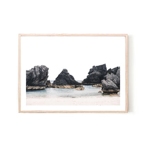 Rock Beach Print - Various sizes (4562478399572)